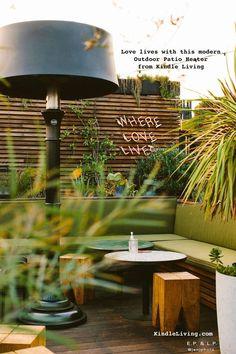 Indoor Outdoor, Outdoor Living, Outdoor Spaces, Outdoor Decor, Patio Heater, Outdoor Restaurant Patio, Modern Cafe, Design Firms, Design Awards