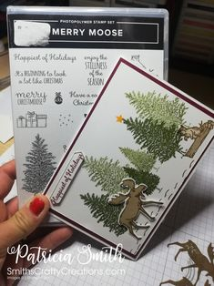 Merry moose handmade card sneak peak Autumn Winter occasions catalogue 2019 Stampin'Up! Fall Cards, Winter Cards, Xmas Cards, Holiday Cards, Homemade Christmas Cards, Stampin Up Christmas, Homemade Cards, Stampinup Christmas Cards, Christmas Moose