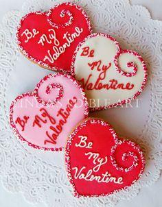 Be My Valentine Sugar Cookies - Linda's Edible Art in Michigan on Etsy