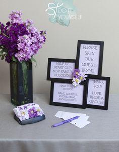 address wedding guest book