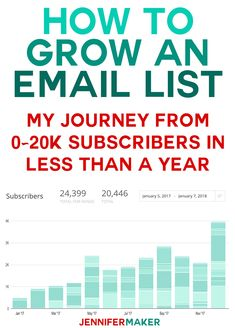 How to Grow An Email List: My Journey From 0-20k Subscribers in Less Than a Year   how to grow email list   #blogging #subscribers