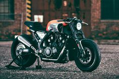 Meet 'Infrared'—a customized Yamaha VMAX power cruiser built by the JvB-moto workshop of Germany.