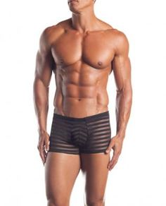 Excite extreme series striped mesh boxer  black o/s