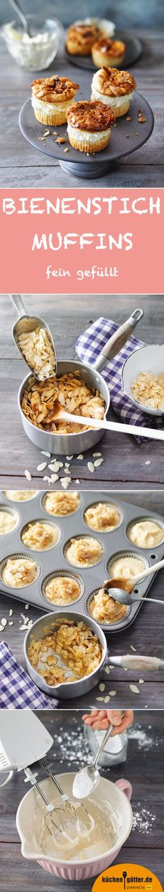 sting muffins - BEE STITCH MUFFINS – Not only bees fly on these finely filled muffins. Admittedly, they do a litt -Bee sting muffins - BEE STITCH MUFFINS – Not only bees fly on these finely filled muffins. Admittedly, they do a litt - Food Cakes, Cupcake Cakes, Baking Recipes, Cake Recipes, Dessert Recipes, Pizza Recipes, Bread Recipes, Sweet Bakery, No Bake Desserts