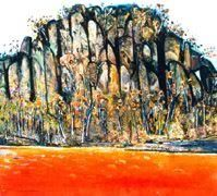 Fred Williams, Hanging rock, 1976