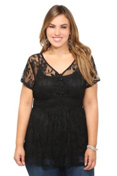 Black Allover Lace Babydoll