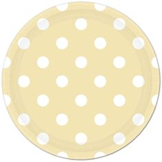 Ivory Polka Dot Lunch Plates (8) This would be pretty paired with gold or pistachio green tableware!