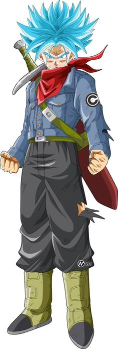 trunks ssj blue by naironkr on DeviantArt Trunks Ssj Blue, Goten Y Trunks, Trunks And Mai, Dragon Z, Dragon Super, Dragon Ball Z Shirt, Dbz Characters, Me Anime, Anime Art