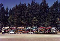 Freightliner coe Convoy 18 Hondas by PAcarhauler, via Flickr