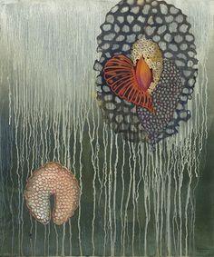 Barbara Rogers -Strange Botany #9, 2014, oil on ragcote paper, 24 x 20 inches