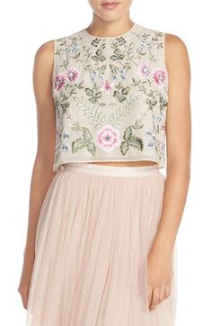 Needle & Thread 'Spring' Embroidered Crop Top available at #Nordstrom