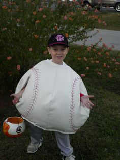 My Mom and I made the baseball costume.