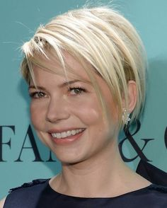 Michelle Williams has fantastic hair and skin.