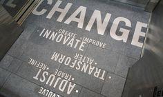 Elevator Text, Change Elevators, University of Washington, University of Washington School of Art, Division of Design