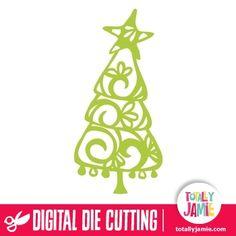 Whimsical Christmas Tree Filigree