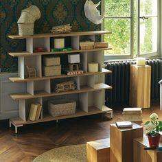 Étagère à 4 niveaux design scandinave Naturel/blanc - Westwood - Les étagères - Bibliothèques, étagères et living - Tous les meubles - Décoration d'intérieur - Alinéa #AlineaPE2014