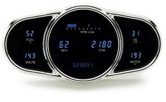 DAKOTA DIGITAL DASH UNIVERSAL 6 GAUGE CLUSTER ELLIPTICAL MULTI-LEVEL VFD SYSTEM VFD3-1009 - Phoenix Tuning