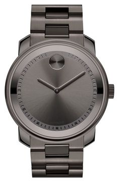 Free shipping and returns on Movado 'Bold' Bracelet Watch, 43mm at Nordstrom.com. An etched minute track lends a subtle update to the classic Movado bracelet watch, made complete with a signature Museum dot at 12 o'clock.