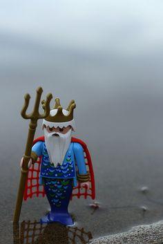 Yo un día conocí q un rey verde y pensé que el dueño era un príncipe ....pensé mal !!! #sadness #triton #playmobil