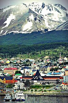 Usuhaia, Tierra del Fuego. Patagonia, Argentina. A beautiful place for your vacations.
