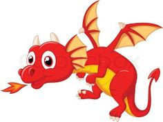 Vector of 'Vector illustration of Cute dragon cartoon'