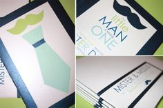 "Lots of great ""little man"" themed ideas in here! Love the color scheme: sage, auqa, and navy."