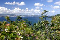 Vue du jardin vers la baie de Fort-de-France