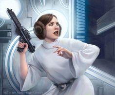 Star Wars: TCG - Leia Organa by AnthonyFoti on deviantART