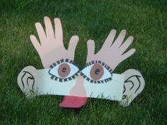 24 Five senses crafts for preschoolers - Aluno On 5 Senses Craft, Five Senses Preschool, 5 Senses Activities, My Five Senses, Kindergarten Science, Preschool Themes, Sensory Activities, Preschool Activities, Preschool Worksheets
