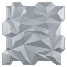 Art3d® Decorative 3D Wall Panels PVC Diamond Design Black | Etsy Pvc Wall Panels, Tile Covers, Silver Walls, Stick On Tiles, Headboards For Beds, Diamond Design, Interior Walls, 3d Wall, Interior Decorating