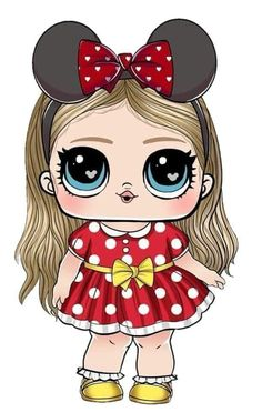 Kawaii Girl Drawings, Cute Girl Drawing, Pony Drawing, Kids Cartoon Characters, Cartoon Art, Lol Dolls, Cute Dolls, Kindergarten Coloring Pages, Chibi Kawaii