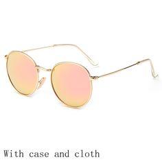 2eebbc042 Vintage Round Sunglasses Women men female brand Metal Frames Mirror Lenses  Sun Glasses For women retro Male retro de sol-in Sunglasses from Women's  Clothing ...
