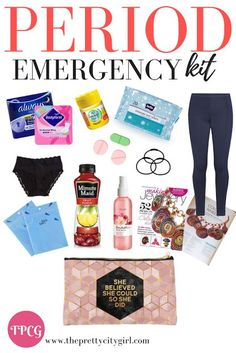 Period emergency kit essentials for the girls always on the go - #emergency #essentials #Girls #Kit #Period