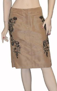 Roberto Cavalli Womens Skirt Beige Silk, L, Beige Roberto Cavalli,http://www.amazon.com/dp/B00AKNAV24/ref=cm_sw_r_pi_dp_07B0qb0SVADVAGEX