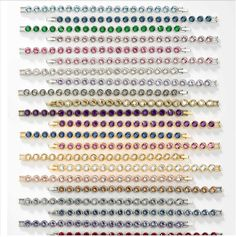"Ice Bracelets Item 4249BF Ice Bracelets feature a continuous row of sparkling crystal with a single foldover clasp; 7 ¼"" length. Why stop with just one?! Pick your favorites to create a sparkling wris"