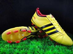 great fit fd410 6c1ed Adidas adiPure IV TRX FG Yellow Firm Ground Soccer Shoes