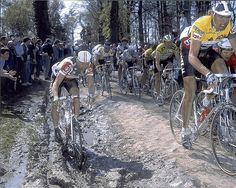 1988 Paris Roubaix - Bob Roll in the trenches!