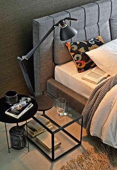 Sfeervolle slaapkamer van Italiaans meubelmerk Molteni&C | www.archana.nl