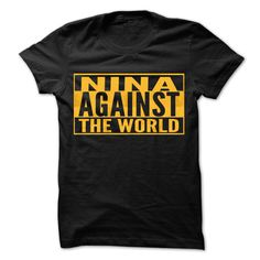 #Sportstshirts... Cool T-shirts  Worth :$19.00Purchase Now  Low cost Codes View pictures & pictures of NINA Against The World - Cool Shirt ! t-shirts & hoodies:Should you don't completely love our design, you'll be able to SEARCH your favourite one through t....