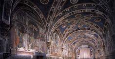 Domenico di Bartolo - View of the fresco cyle in the Pellegrinaio (Santa Maria della Scala Hospital (Siena)) ドメニコ・ディ・バルトロ Renaissance, Santa Maria, Siena, Stairway To Heaven, 15th Century, Pilgrimage, Stairways, Barcelona Cathedral, Medieval
