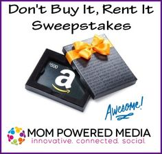 Don't Buy It, Rent It - $500 Amazon GC Giveaway-CAN & US-ends 09/07 - The World of ContestPatti