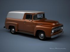 A Garagem Digital de Dan Palatnik | The Digital Garage Project: 1956 Ford F-100 Custom Panel