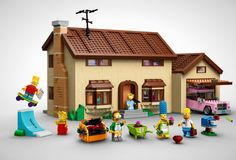 Meet The Simpsons, LEGO edition. So cool!