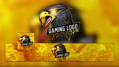 115+ FREE YouTube Gaming Logo, Banner & Avatar Template   Graphic Design Resources Eagle Mascot, Eagle Logo, Steam Avatar, Gaming Banner, Channel Art, Youtube Banners, Free Youtube, Banner Template, Logo Templates