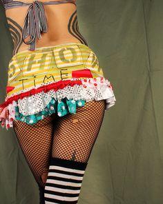 Festival Skirt sexy mini skirt cute short skirt by CrudeThings, $58.00