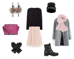 Winter outfit with tulle skirt by netstylistka on Polyvore featuring moda, Balmain, Jimmy Choo, Simons and Dents