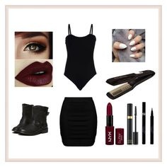 """""""#nightoutfit"""" by elenkok on Polyvore featuring Baguette....., Zizzi, Rowenta, Sisley, Tom Ford and NYX"""