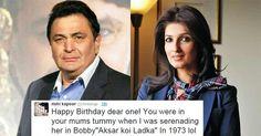 Twinkle Khanna supports Rishi Kapoor's birthday tweet to her! #TwinkleKhanna