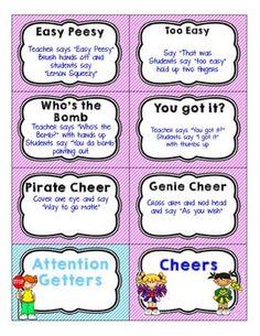 Attention-Grabbers-Chants-and-Cheers-1988887 Teaching Resources - TeachersPayTeachers.com
