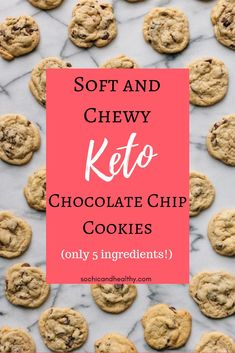 Keto chocolate chip cookies Are you looking for a sugar free treat to satisfy your sweet tooth? These keto chocolate Keto Cookies, Gluten Free Chocolate Chip Cookies, Keto Chocolate Chips, Cheese Cookies, Chocolate Cake, Keto Cookie Dough, Cookies Kids, Almond Flour Cookies, Coconut Cookies